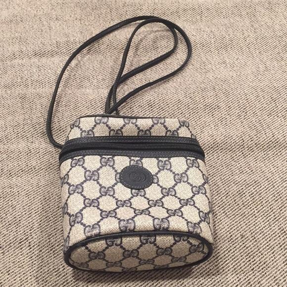 bb31ca6375 Gucci Blue Logo VINTAGE Binocular Crossbody Bag